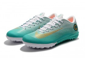 Nike Mercurial Vaporx XII CLUB TF - Clear Jade/White/MtlcVivid Gold
