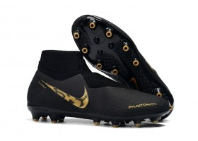 Nike Phantom Vision Elite DF AG - Black/Metallic Gold