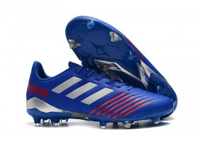 Adidas Predator 19.4 FG - Bold Blue/Silver Metallic/Active Red