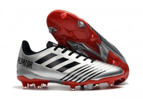 Adidas Predator 19.4 FG - Silver Metallic/Black/Active Red