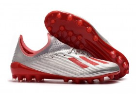 Adidas X 19.1 AG 302 Redirect Pack - Silver Metallic/Hi-Res Red/White