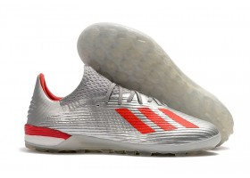 Adidas X 19.1 TF 302 Redirect Pack - Silver Metallic/Hi-Res Red/Footwear White