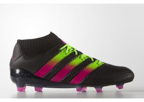 adidas ACE 16.1 Primeknit FG - Core Black/Shock Pink/Solar Green (OUT OF STOCK)